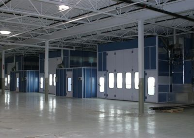 3 Large Truck Paint Booths
