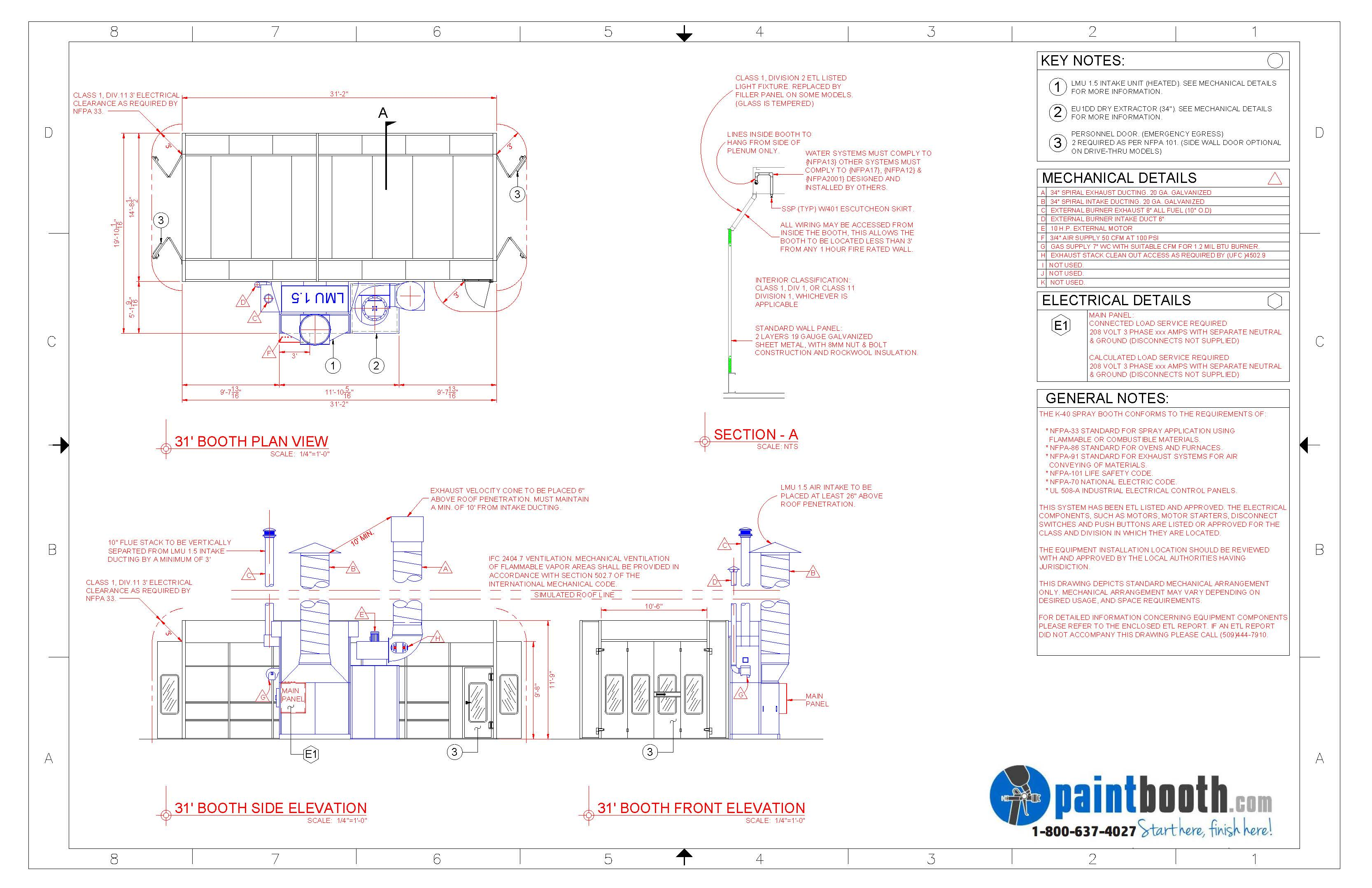 automotive paint booths designed & installed for your shop ... 1997 f250 wiring diagram door spray booth wiring diagram