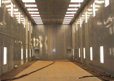Blast Booth Inside