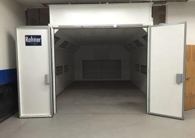 Doors Open Paint Booth