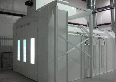 Heated EZ Crossdraft Paint Booth _0324