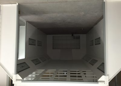 Inside Modified Down Draft Booth