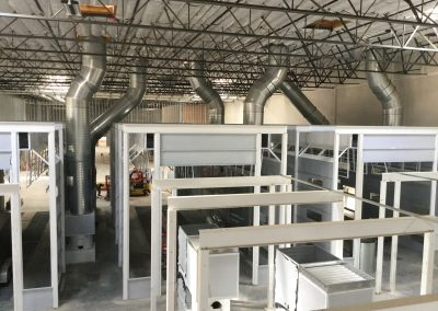 Large Truck Booths in Process