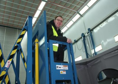 Man Lift In Use