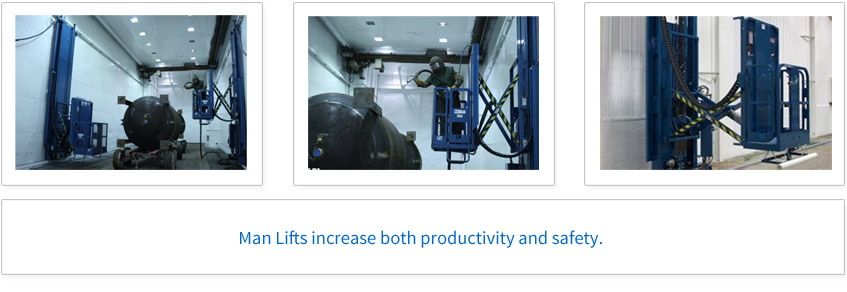 Man Lifts increase both productivity and safety.