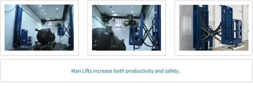 Man Lifts increase both productivity and safety.
