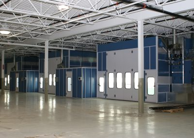 Several Large Truck Spray Booths