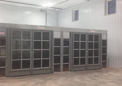 Side By Side Industrial Cross Draft Booths