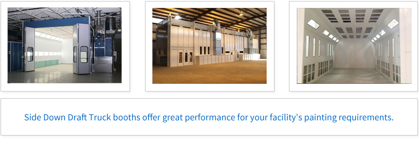 Side Down Draft Truck booths offer great performance for your facility's painting requirements.