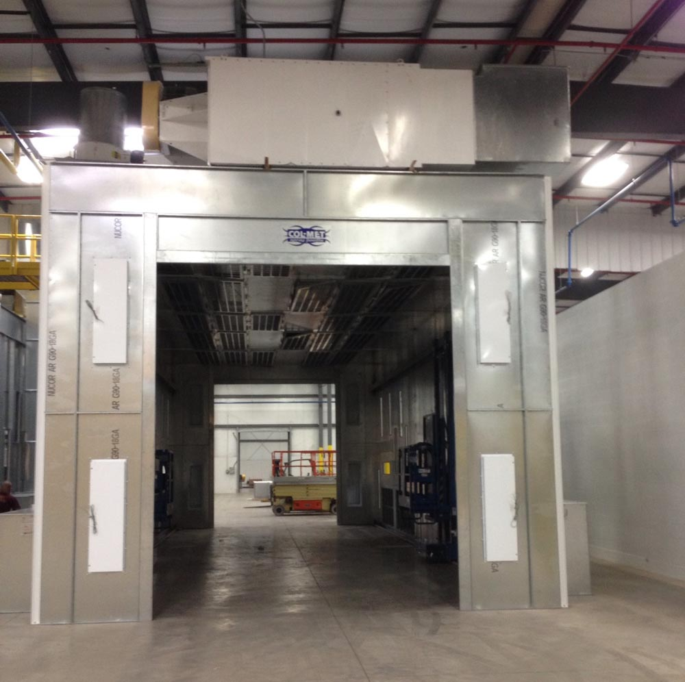 Take out the guesswork when assembling by using nut & bolt together spray paint booths