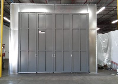 Tri-Fold Paint Booth Doors