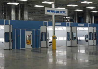 State of the art automotive paint booth install.