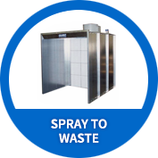 Spray To Waste Powder Booth