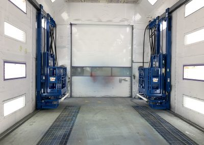 2 Paint Booth Man Lifts